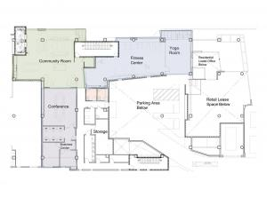 2nd floor community room and shared area site plan